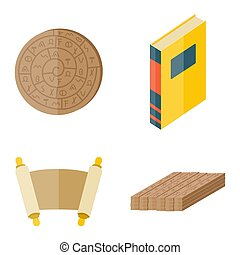 Books icons document magazine publication typography knowledge typography bookstore vector illustration.