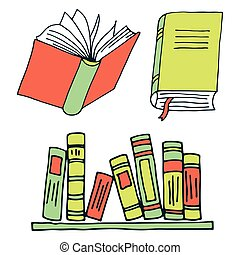 Books icons isolated