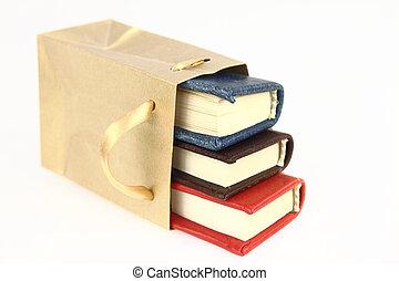 Books in a paper bag