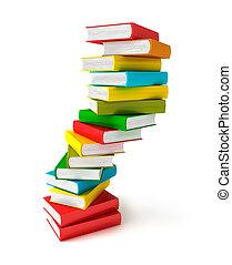 Books in pile