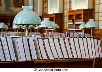 Books in the library