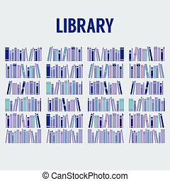 Books In The Library Without Shelf. - Books In The Library...