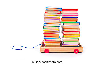 Books in toy cart