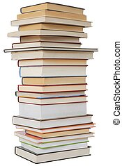 Books - Isolated books stack