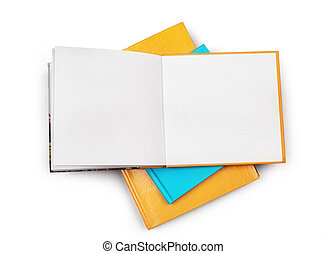 Books isolated on a white background
