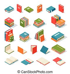 Books isolated vector illustration.