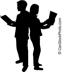 books., lezende