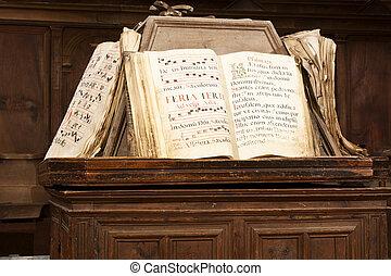 books of gregorian song - books of score of Gregorian song...