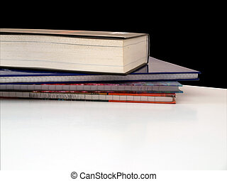 Books on desk in school