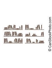 Books on shelf vector illustrattion