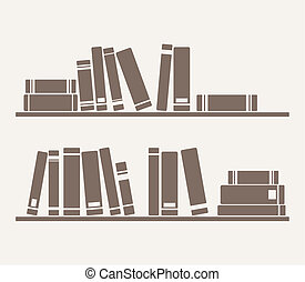 Books on the shelves simply vector