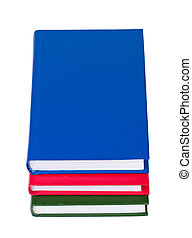 Books on white background isolated.