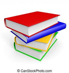 books., pile