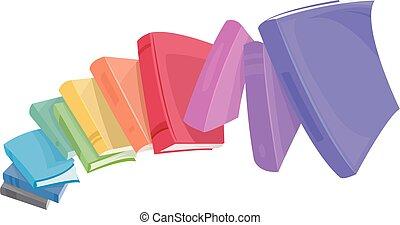 Books Rainbow Tumble