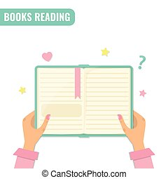 Books reading, literature concept.
