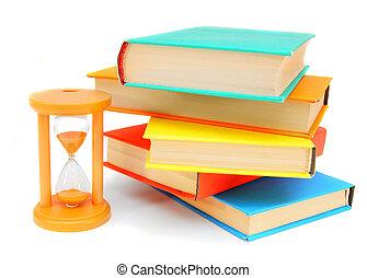books., sable-verre, quelques-uns