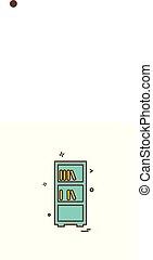 Books shelf icon design vector