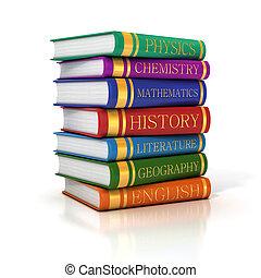 books stack  3d illustration