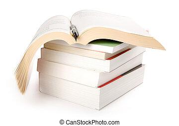 Books Stack close up shot