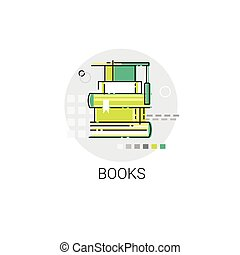 Books Stack Education Concept Library Icon