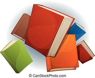 Books Stack Flying