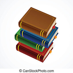 Books stack icon. Vector Illustration