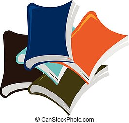 Books Stack Logo Design Template Vector