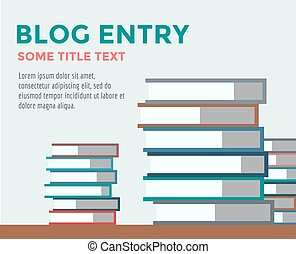 Books stack vector icon isolated. School objects, or...