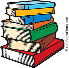(books, stacked), książki, stóg