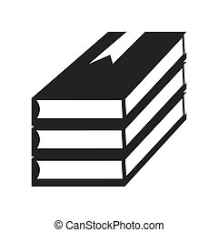 books stacks education icon vector graphic