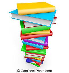 books., stapel