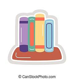 books sticker flat style icon