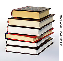 Books isolated on white background with a clipping path....