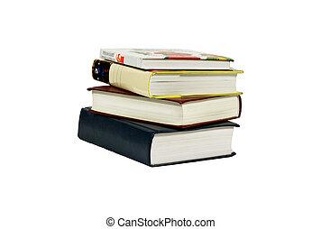Books taken on a white background