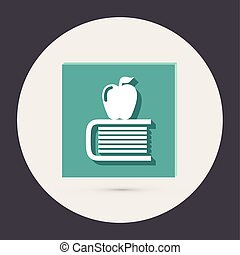 Books tower with apple icon