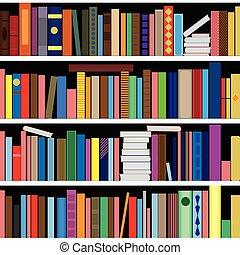 Books vector seamless texture verti