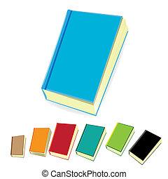 books., vector, stapel, illustration.