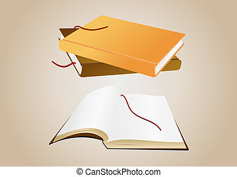 Books with background