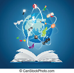 Books with world of science