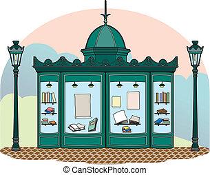Bookseller kiosk - Kiosk in Paris