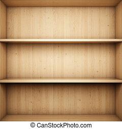 Bookshelf - Blank wooden bookshelf