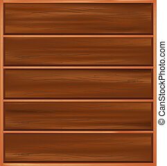 Bookshelf From Brown Tree With Regiments, Isolated On White Background, Vector Illustration