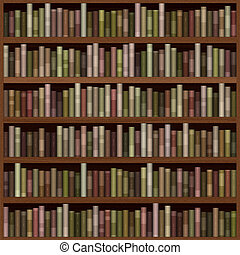 Bookshelf generated hires texture