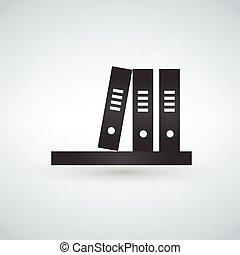 Bookshelf grey icon