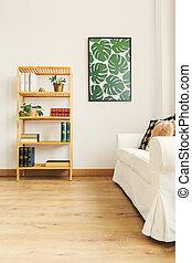 Bookshelf in flat