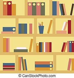 Bookshelf seamless - Bookshelf. Seamless background