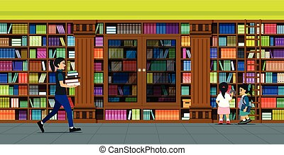 bookshelves library