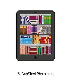 bookshtlves, screen., e 本