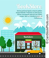 Bookstore advertising banner