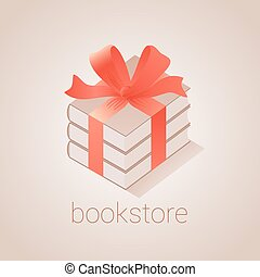 Bookstore, bookshop vector emblem, sign, symbol, logo, icon